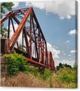 Texas Train Trestle 13984c Canvas Print