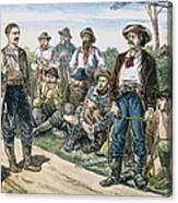 Texas Vigilantes, C1881 Canvas Print
