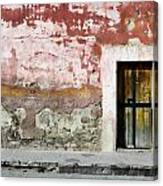 Textured Wall In Mexico Canvas Print
