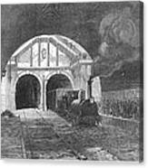 Thames Tunnel: Train, 1869 Canvas Print