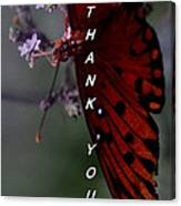 Thank You Card - Butterfly Canvas Print