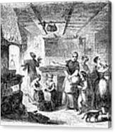 Thanksgiving, 1855 Canvas Print
