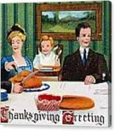 Thanksgiving Card, 1910 Canvas Print