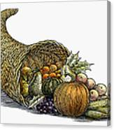 Thanksgiving: Cornucopia Canvas Print