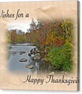 Thanksgiving Greeting Card - Autumn Creek Canvas Print