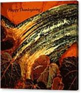 Thanksgiving Greeting Card Canvas Print