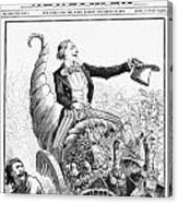 Thanksgiving Parade, 1887 Canvas Print