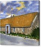 Thatched House Sandy Lane Rush County Dublin Ireland. Canvas Print
