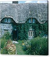 Thatched Roof, England Canvas Print