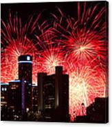 The 54th Annual Target Fireworks In Detroit Michigan - Version 2 Canvas Print