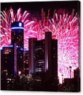 The 54th Annual Target Fireworks In Detroit Michigan Canvas Print