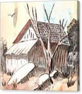 The Abandoned Woodshed Canvas Print