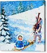 The Aerial Skier - 1 Canvas Print