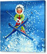 The Aerial Skier - 11 Canvas Print