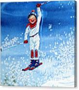 The Aerial Skier 15 Canvas Print