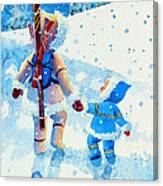 The Aerial Skier - 2 Canvas Print