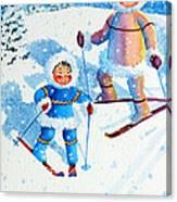 The Aerial Skier - 6 Canvas Print