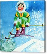 The Aerial Skier - 9 Canvas Print
