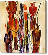 Figurative Abstract African Couple Reproduction On Gallery Wrapped Canvas  Canvas Print