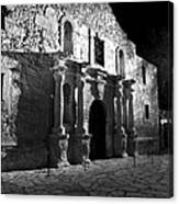 The Alamo At Night Canvas Print