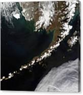 The Aleutian Islands And The Alaskan Canvas Print