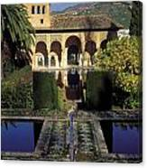The Alhambra Palace Of The Partal Canvas Print