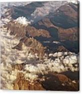 The Alps, Aerial Photograph Canvas Print