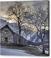 The Alps In Winter Canvas Print
