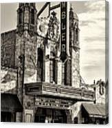 The Ambler Theater In Sepia Canvas Print