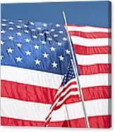 The American Flag Hangs Canvas Print
