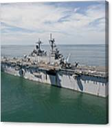 The Amphibious Assault Ship Uss Wasp Canvas Print