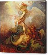 The Angel Binding Satan Canvas Print