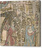 The Annunciation, Depicting Canvas Print