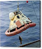 The Apollo 8 Capsule Being Hoisted Canvas Print