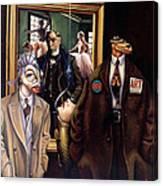 The Art Critic Canvas Print