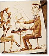 The Artist - Coffee Art Canvas Print