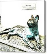 The Asian Civilisations Museum Cat Canvas Print