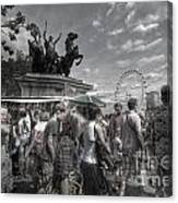 The Attack Of The Zombie Tourists Canvas Print
