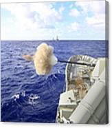 The Australian Navy Frigate Hmas Canvas Print