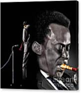 The Back And The Affront Of Miles Davis Canvas Print