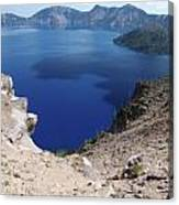 The Back Side Of Crater Lake  Canvas Print