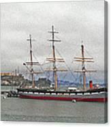 The Balclutha Ship And Alcatraz Island Canvas Print