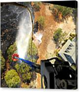 The Bambi Bucket Attached To A Ch-47 Canvas Print