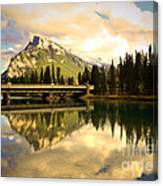The Banff Bridge Reflected Canvas Print