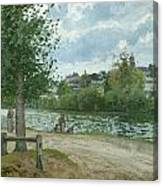 The Banks Of The Oise At Pontoise Canvas Print