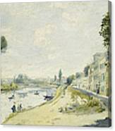 The Banks Of The Seine At Bougival Canvas Print