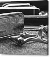The Barber Shop 1 Bw Canvas Print