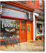 The Barber Shop Canvas Print