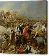 The Battle Between The Amazons And The Greeks Canvas Print