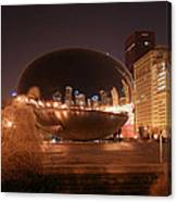 The Bean On A Winter Night Canvas Print